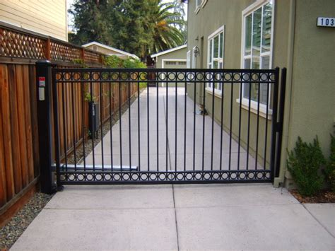 swinging driveway gate single swing gate contemporary exterior san