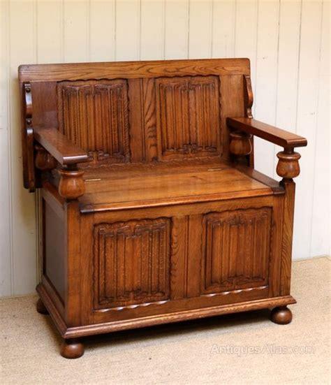 oak monks bench solid oak monks bench antiques atlas