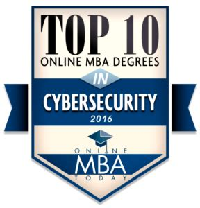 Supply Chain Mba Ranking by Top 10 Mba Degrees In Cybersecurity 2016