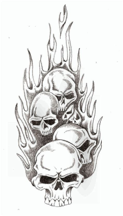 skull with flames tattoo designs skull flames by thelob on deviantart