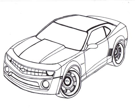 how to draw paint cars books camaro para colorear imagui