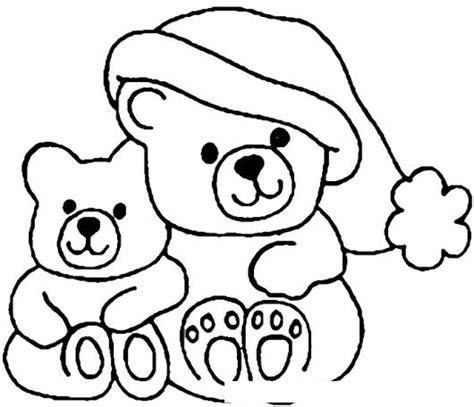 dibujos de navidad para colorear de ositos ositos de navidad para pintar y colorear colorear