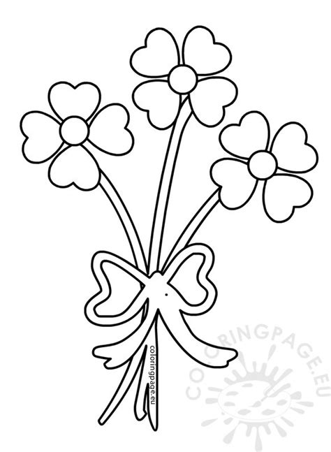 coloring pages flowers and hearts valentine s day coloring page hearts flower bouquet