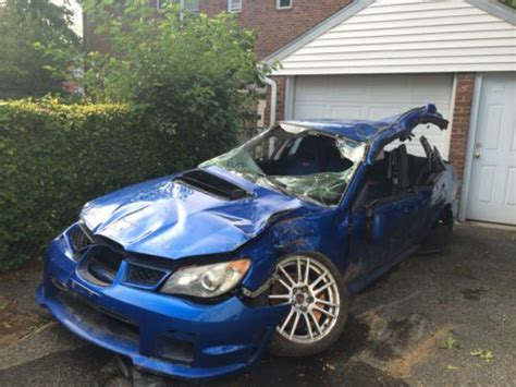 crashed subaru wrx sell used 2006 subaru impreza wrx sti sedan wrecked for