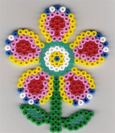 perler bead flower blume b 252 gelperlen flower perler fuse