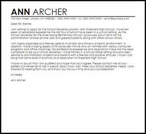 School Secretary Cover Letter Sample   LiveCareer