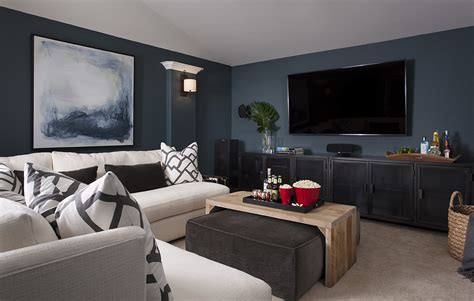 before after cozy media room heather scott home design