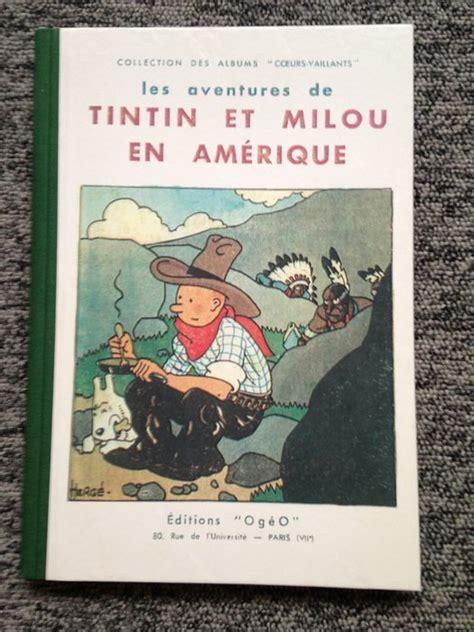 tintin en america tintin tintin et milou en am 233 rique tintin in america autotype hc catawiki