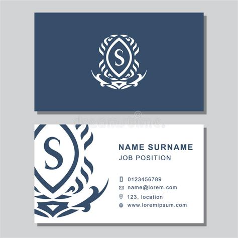 monogram business card template business card template with abstract monogram design