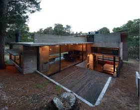 concrete home design concrete and steel summer home tucked into pine forest