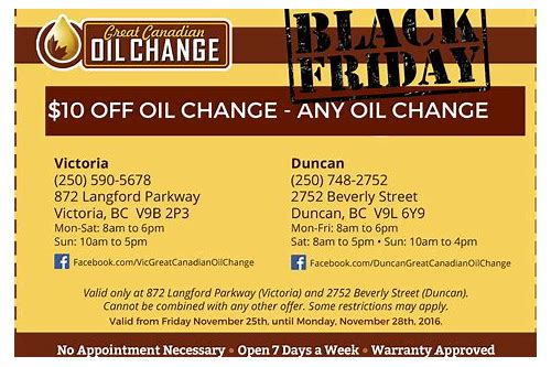 oil change deals duncan