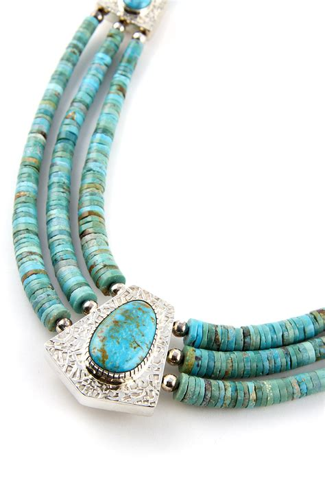 turquoise and sterling silver necklace by and everett
