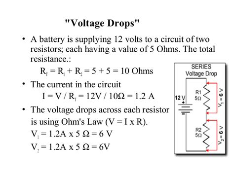calculate voltage drop across each resistor how to calculate voltage drop across one resistor 28 images electric current and series and