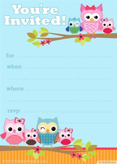 owl invitation template 6 smart owl baby shower invitations printables ideas for