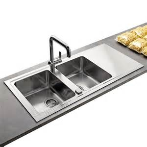 Brushed Stainless Steel Kitchen Sinks Astini Lantos 2 0 Bowl Brushed Stainless Steel Kitchen Sink Waste As5821 Astini From Taps Uk