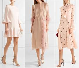 pastel pink dress what color shoes with light pink dress