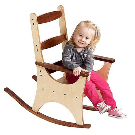 wood pattern for child s rocking chair pint size rocking chair woodworking plan from wood magazine