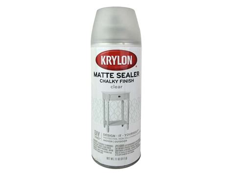 krylon chalky finish paint sealer 11 oz matte clear