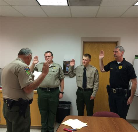 Humboldt County Sheriff S Office by New Officers Sworn In By Sheriff Downey Lost Coast