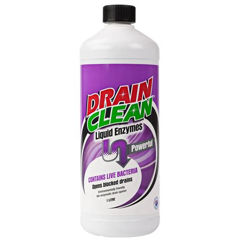 drain clean 1l liquid enzyme drain cleaner bunnings