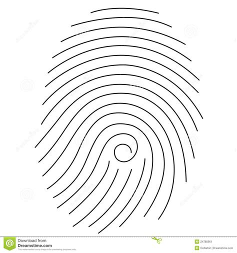 fingerprint template fingerprint stock image image 24785951