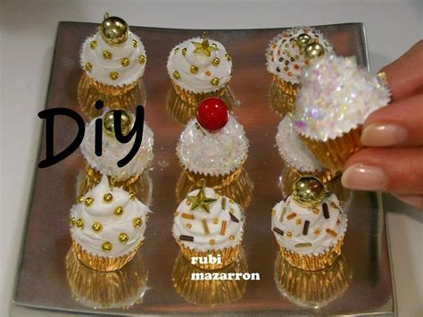 diy cupcakes de navidad para el arbol manualidades