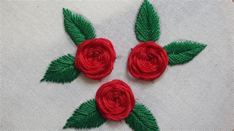 youtube a pattern of roses beautiful roses stitches hand embroidery youtube