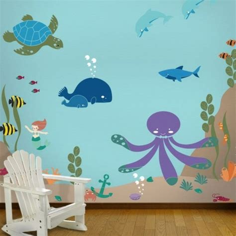 kinderzimmer berge malen babyzimmer wandgestaltung malen