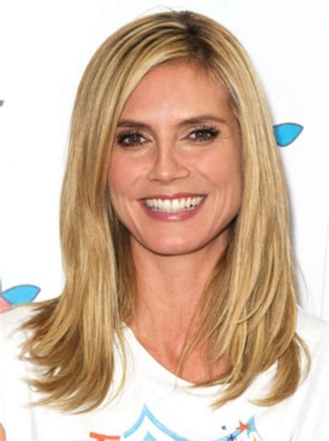 long straight hairstyles layered toward face popular straight hairstyles for a round face heidi klum s