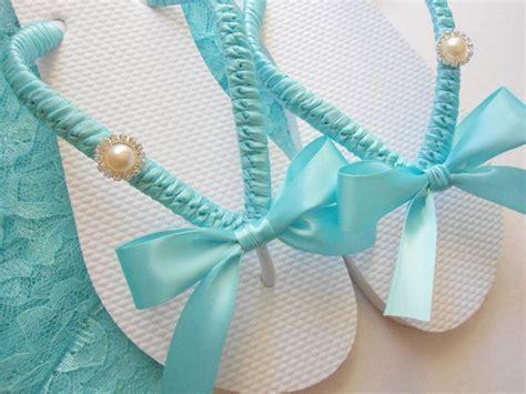 Tiffany Blue wedding shoes, Tiffany blue flip flops