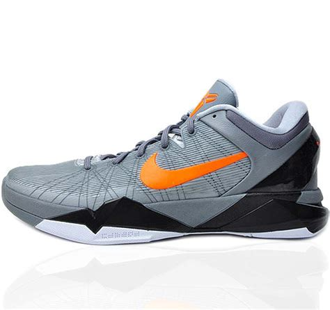 basketball shoes kobes nike vii 7 system gray basketball shoes