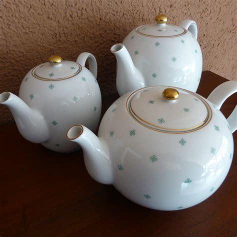 Teko Teh Keramik Putih Teapot 1 Liter gambar putih hijau keramik barang pecah belah bahan seni porselen teko kopi piring