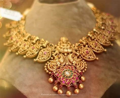 Jewellery Gold Design Angti by Gold Peacock Necklace From Anagha Jewellery Antique