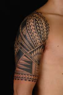 maori polynesian tattoo samoan polynesian half sleeve tattoo