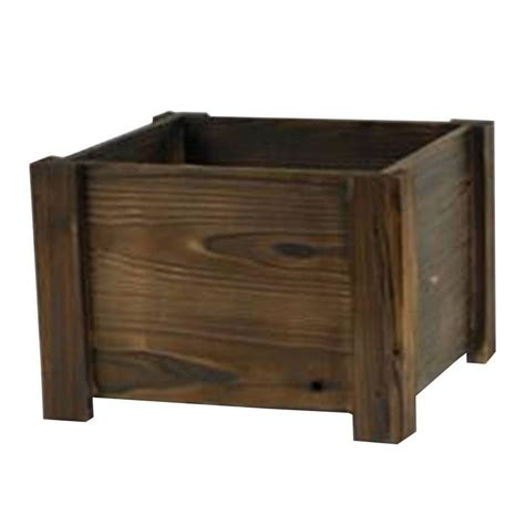 Wood Square Planter by Pennington 16 In Wood Square Planter 100512047