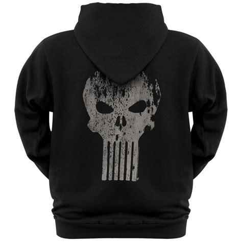 Hoodie Punisher punisher distressed logo zip hoodie ebay
