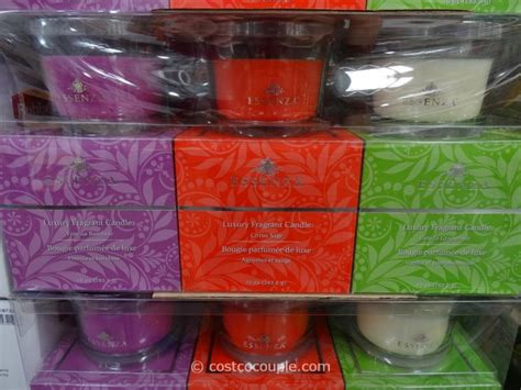 costo candele essenza 3 pack glass jar candle