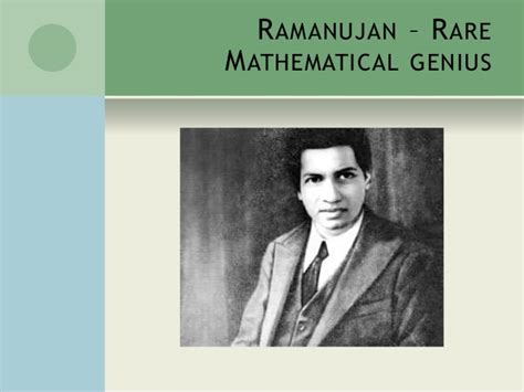 ramanujan biography in english ppt on srinivasa ramanujan
