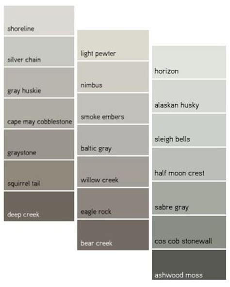 types of grays 17 best ideas about benjamin gray on gray paint colors benjamin grey