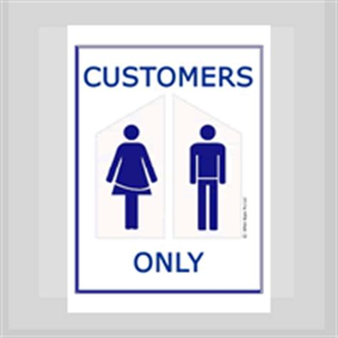 bathroom for customers only sign office signs pro llc free signs free printable
