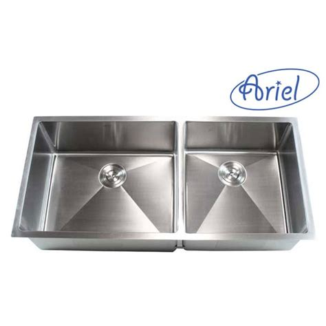 42 Kitchen Sink Ariel 42 Inch Stainless Steel Undermount Bowl Kitchen Sink 15mm Radius Design 16