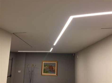 illuminazione controsoffitto in cartongesso striscia led in controsoffitto in cartongesso gyps light