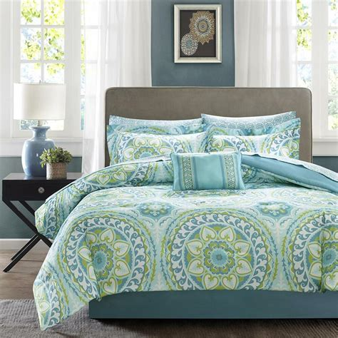 Teal Bedding by Beautiful Modern Tropical Chic Blue Aqua Teal Green