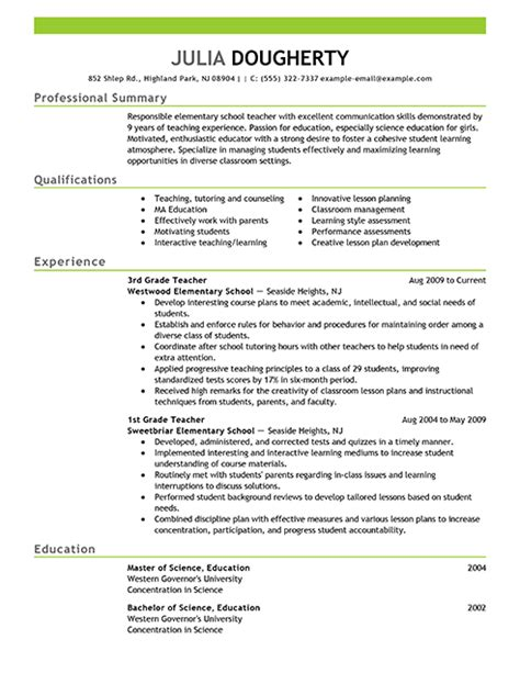 writing a cv for teaching assistant