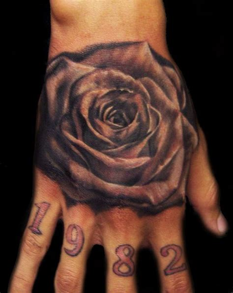rose masculine hand tattoos ideas tattoos pinterest