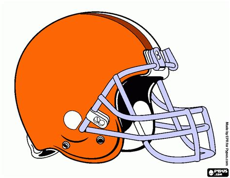 free coloring pages of browns helmet