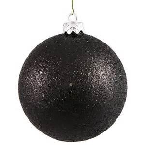 jet black holographic glitter shatterproof christmas ball
