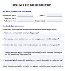 Employee Self Evaluation Form Template by Best Photos Of Employee Evaluation Template Pdf Free