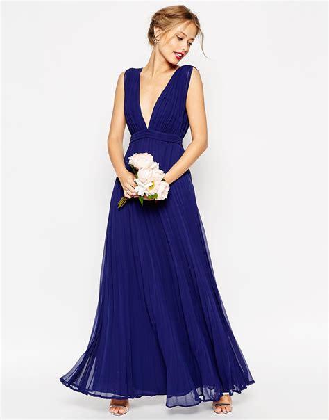 robe de temoin de mariage bleu