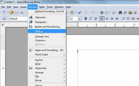 changing the margins in open office writer to be like ms word other changes